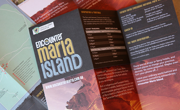 Encounter Maria Island Brand Identity