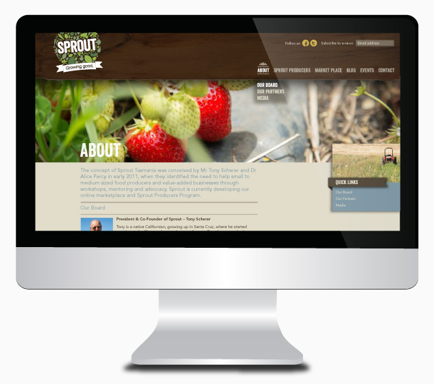Sprout Website Design